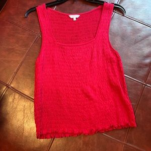 Women's shirred tank top